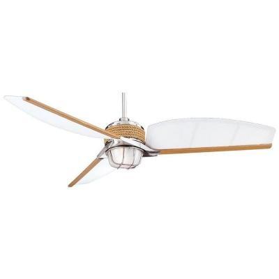Indoor/Outdoor Brushed Nickel Ceiling Fan